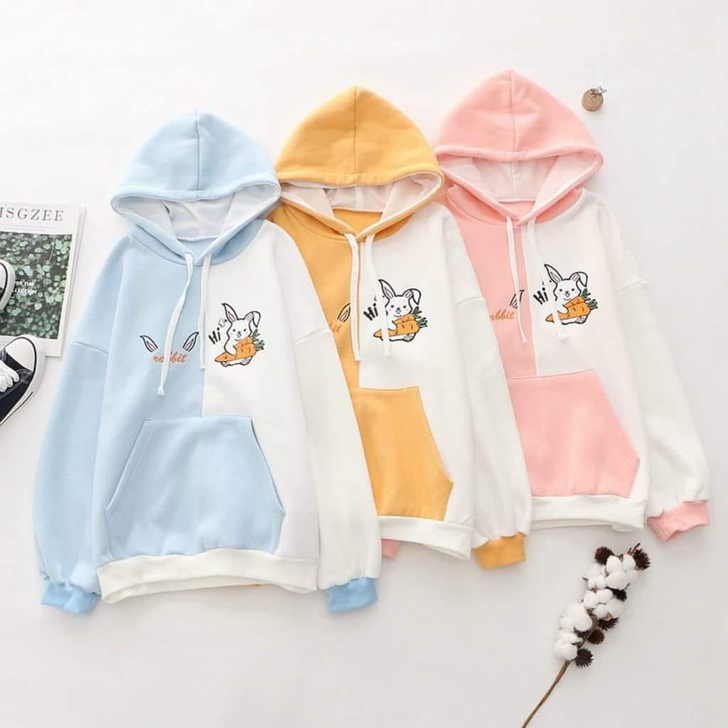 Áo hoodie nữ phối màu cực chất - Áo khoác nỉ chui đầu dễ thương William Store - NL173 | Shopee Việt Nam