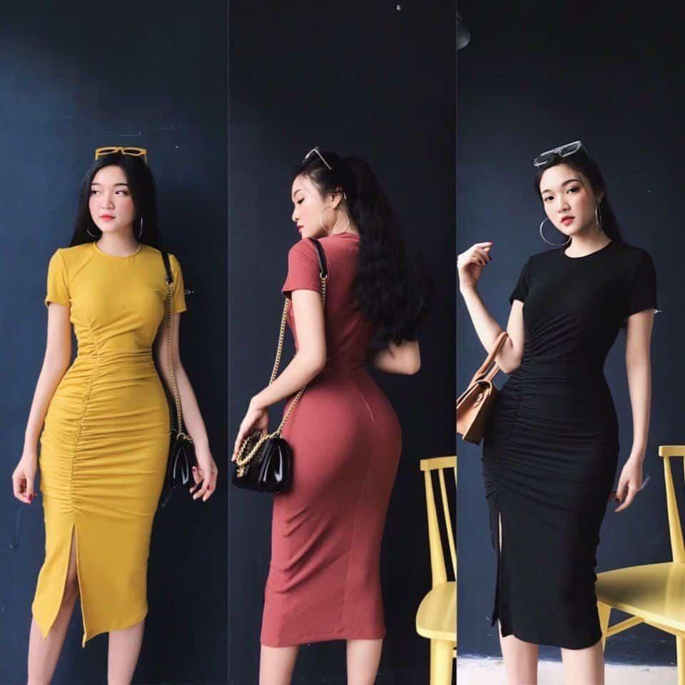 Đầm thun ôm cực xinh TPHCM nổi tiếng