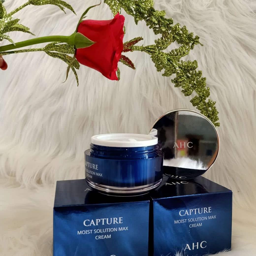 Kem dưỡng da mặt ahc capture moist solution max cream ( Xanh) - Nước hoa  Pháp Chính Hãng