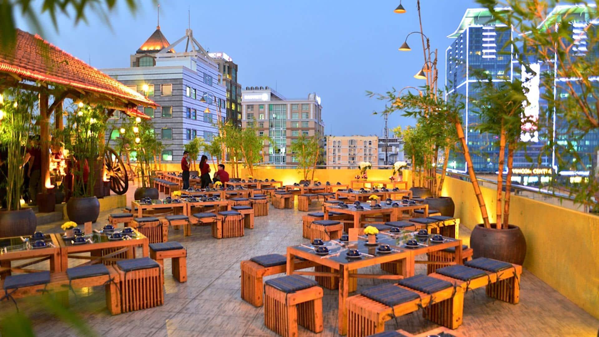 Thiết kế cafe sân thượng thu hút mọi khách hàng