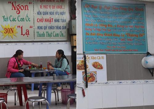 Quán ốc lâu năm ở Sài Gòn dùng sữa pha nước chấm - VnExpress Du lịch
