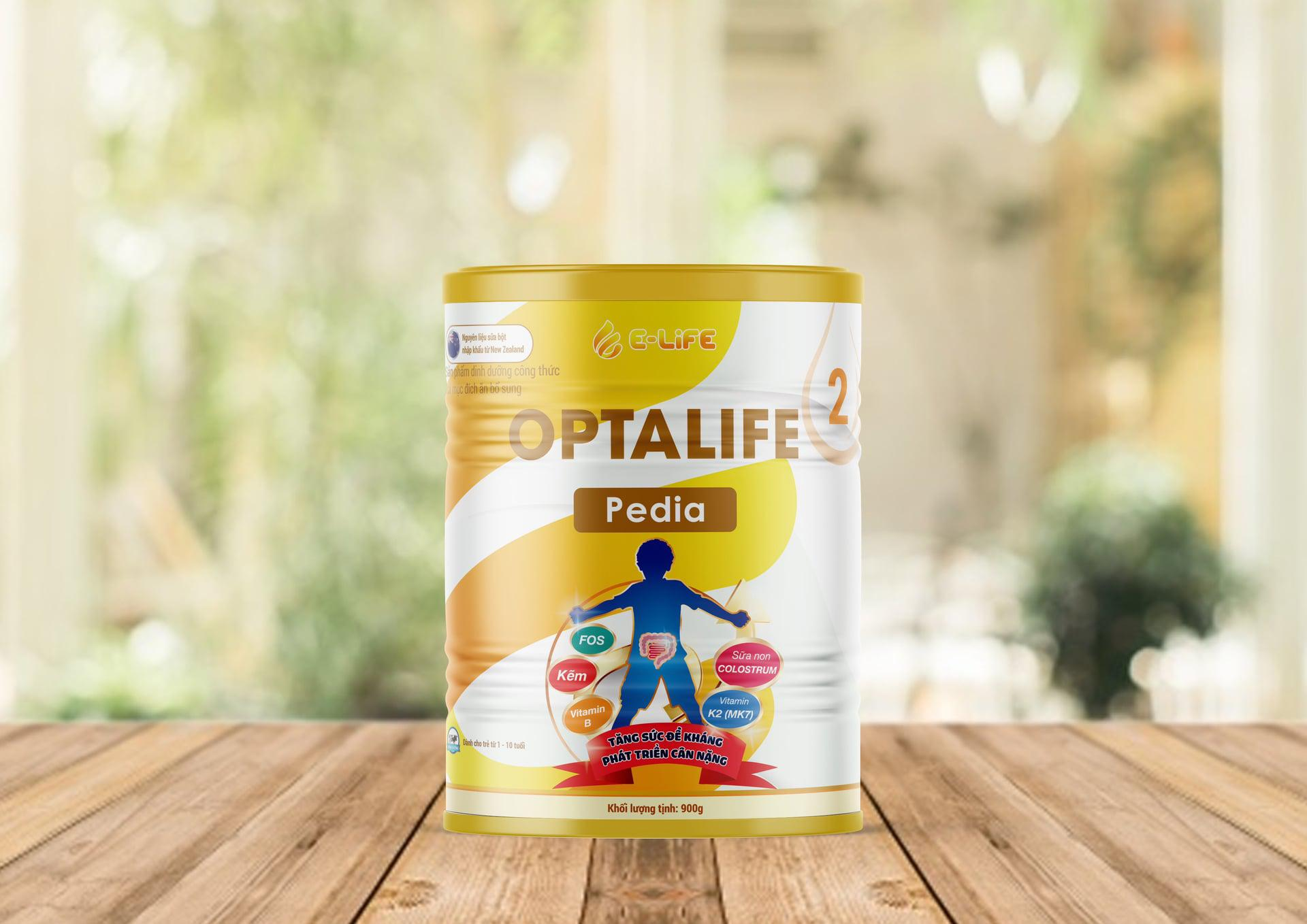 Sữa Non Optalife 2 Pedia cho trẻ biếng ăn & chậm tăng cân từ 1-10 tuổi