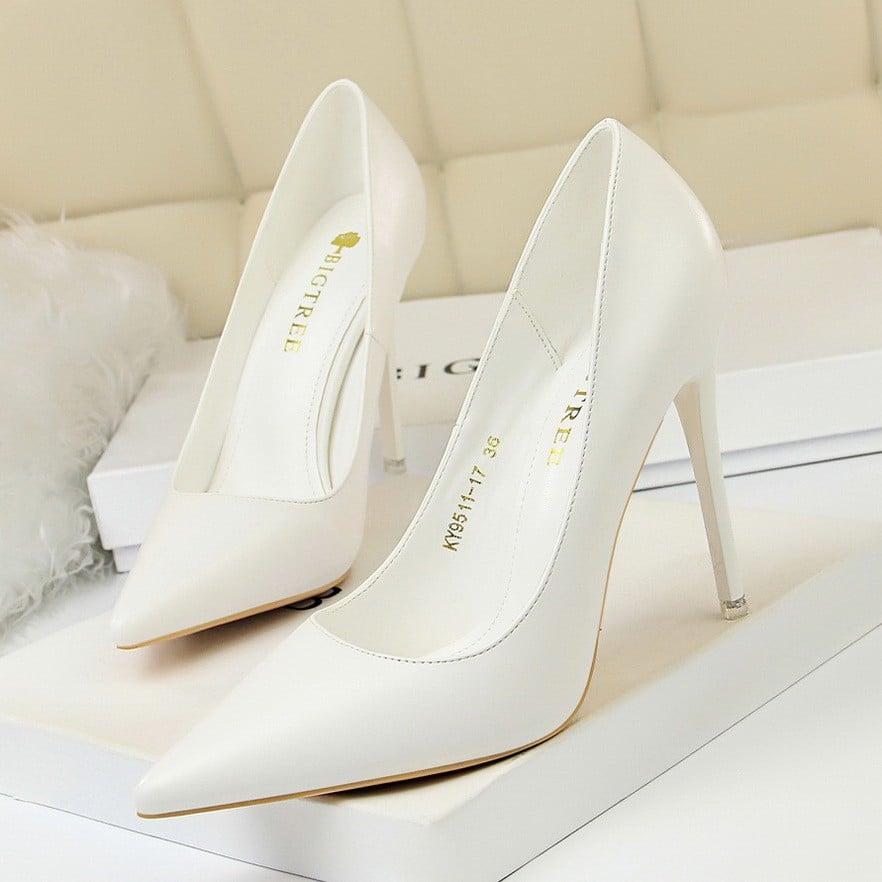 Giày nữ hàng hiệu_Giày cao gót 7&10cm siêu tôn dáng. Giày thời trang nữ gót  nhọn mũi nhọn. | Shopee Việt Nam
