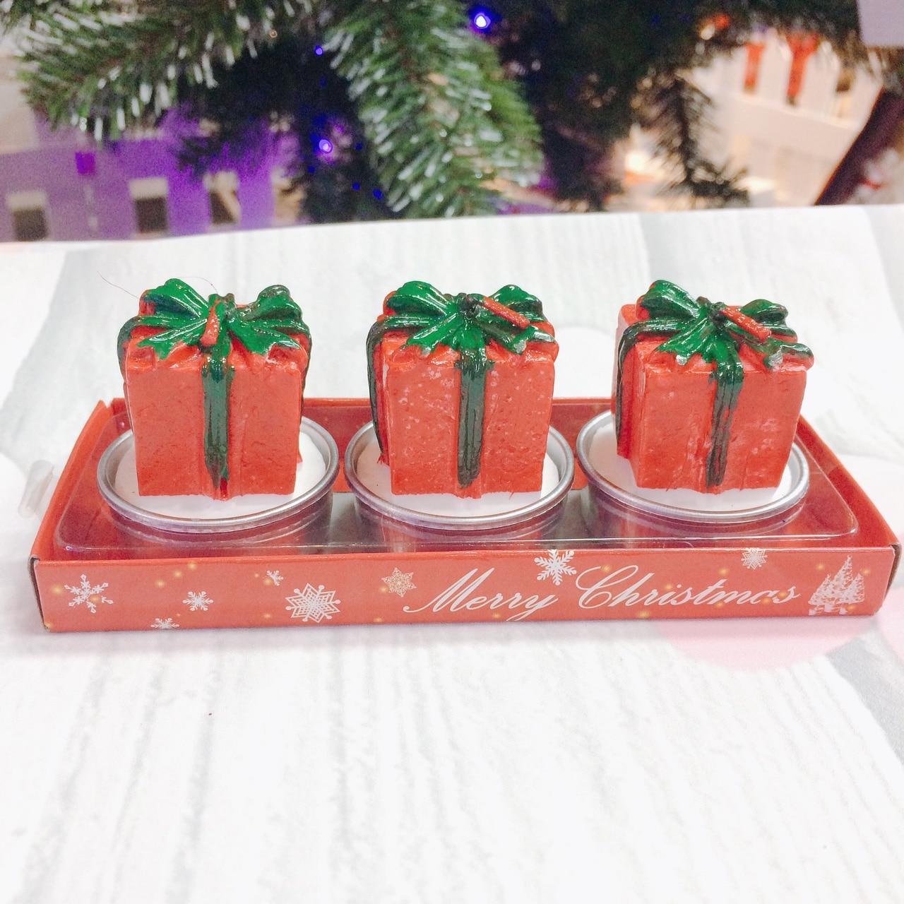 Set 3 Nến Hộp Quà Noel - Siêu Thị Ngành Bánh - dungculambanh.com.vn