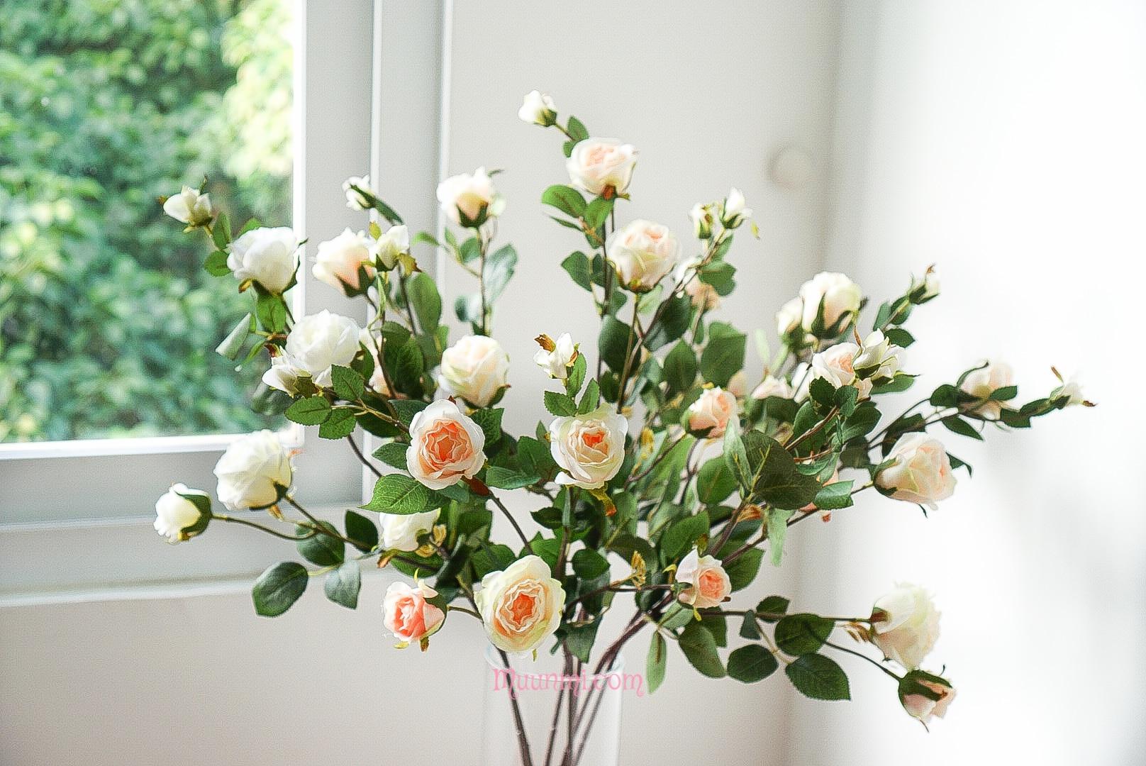 Cắm bình hoa giả đẹp lung linh với chỉ 7 mẹo đơn giản sau - Hoa lụa MUUNMI - For Beautiful Hearts
