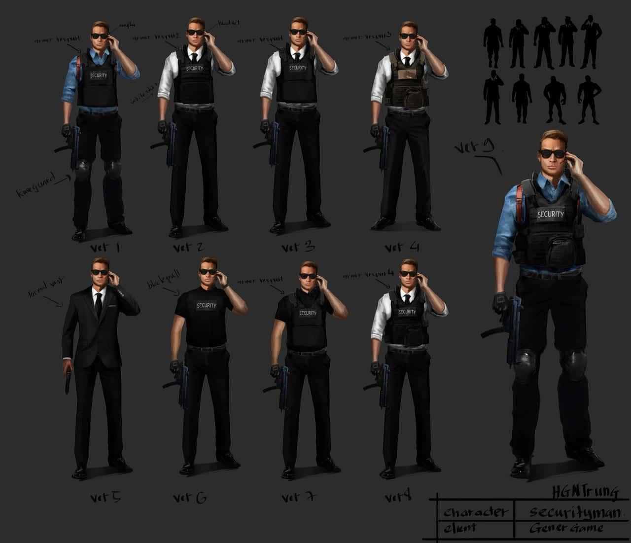 Character Design- Security Man by hgntrung on DeviantArt