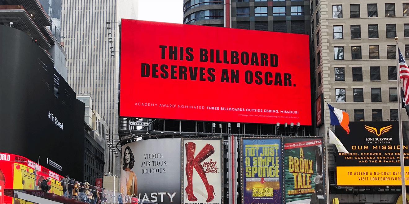 "Mỹ làm Billboard chúc mừng ""3 Billboards"" đoạt giải Oscar • RGB"