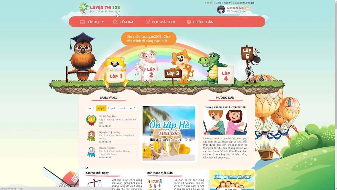 Các trang web học toán miễn phí