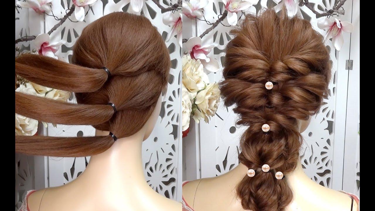hướng dẫn tết tóc cô dâu hàn quốc đơn giản 2020 - YouTube