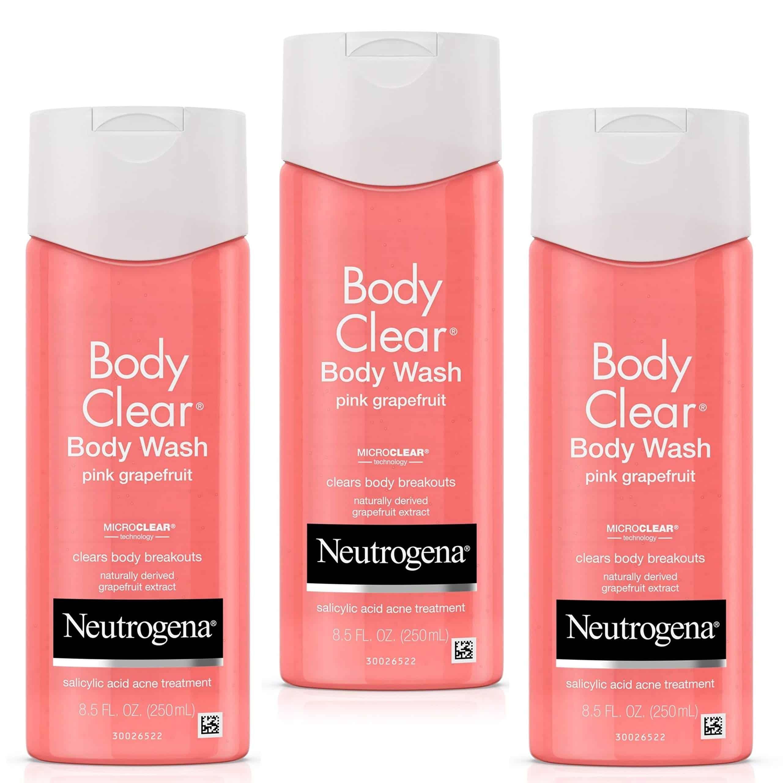 Mua Neutrogena Body Clear Acne Treatment Body Wash with 2% Salicylic Acid  Acne Medicine to Prevent Body Breakouts, Pink Grapefruit Shower Gel for  Back, Chest & Shoulders, Vitamin C, 8.5 fl. oz (