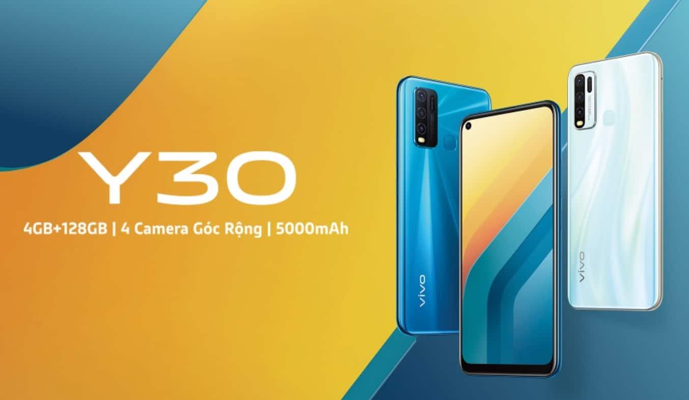 Điện Thoại Vivo Y30 4GB/128GB Trắng Giá Tốt | Nguyễn Kim