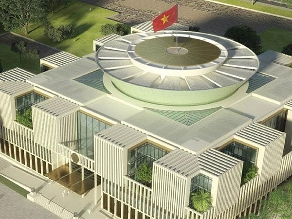 Tòa nhà Quốc Hội nước Cộng Hòa Xã Hội Chủ Nghĩa Việt Nam sử dụng sơn Dulux