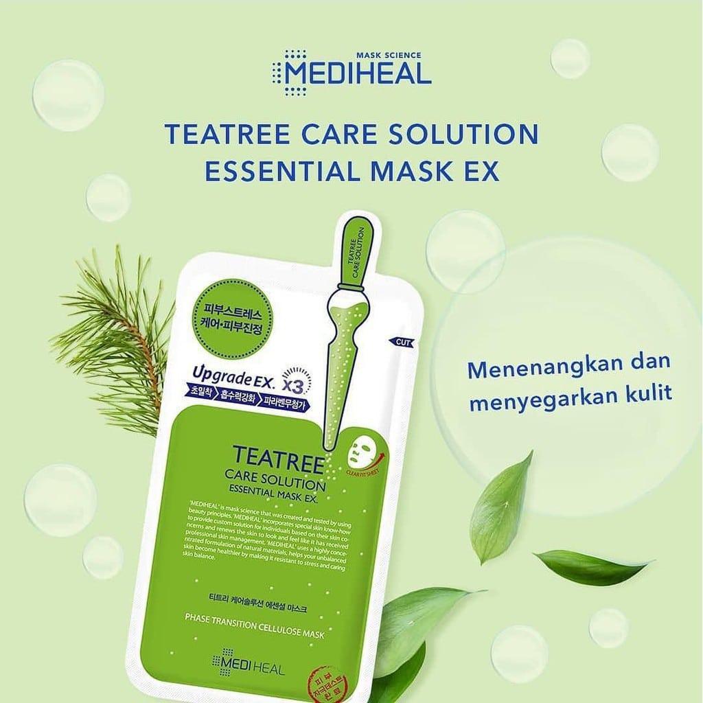 Mặt Nạ Tinh Chất Tràm Trà Ngăn Ngừa Mụn Mediheal Tea tree Care Solution Essential Mask Ex 24ml   Shopee Việt Nam