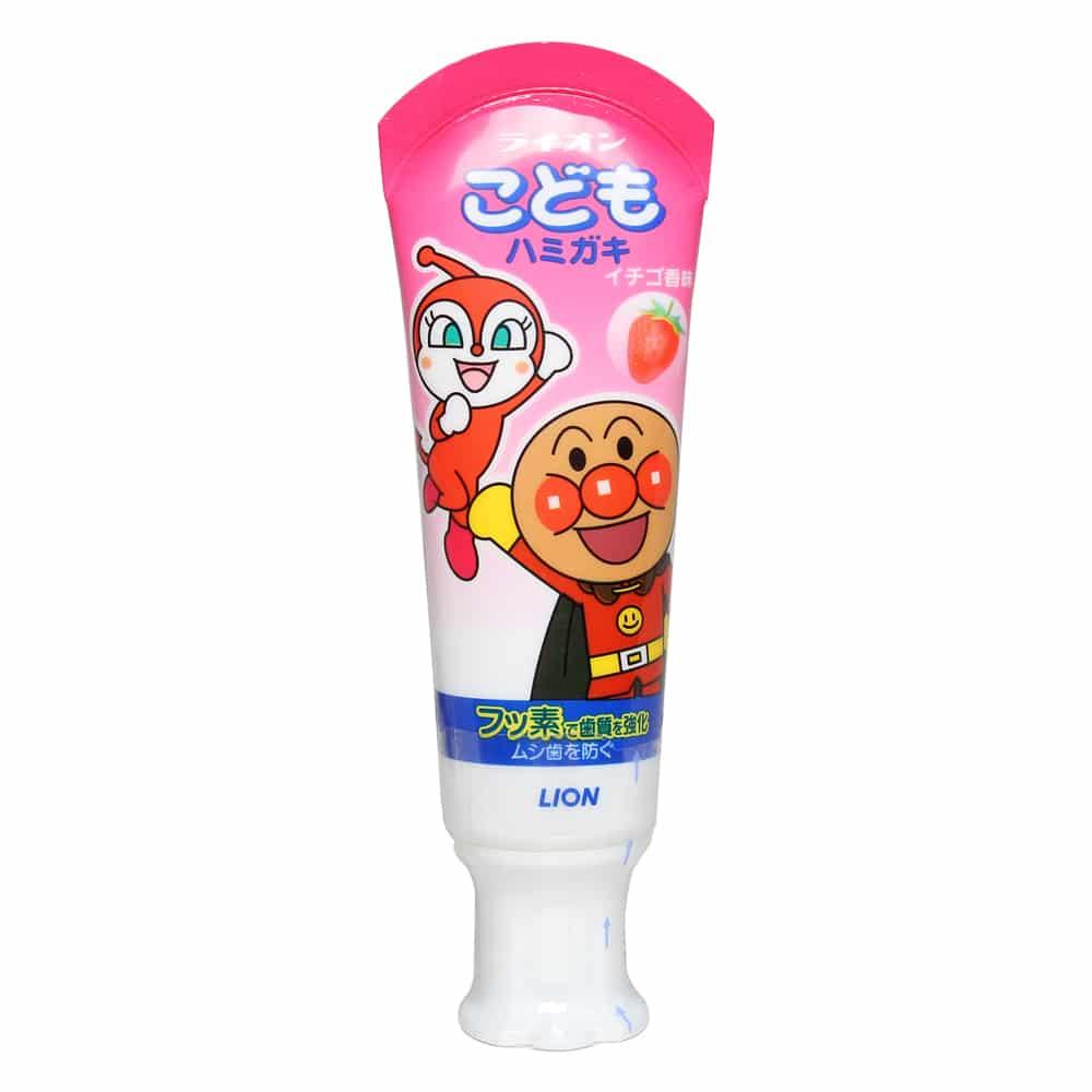 Kem đánh răng Lion Nhật Bản hương dâu tây 40g (Trên 18 tháng) - Bàn chải - Kem đánh răng - Vệ sinh cá nhân cho bé - Bé tắm và vệ sinh