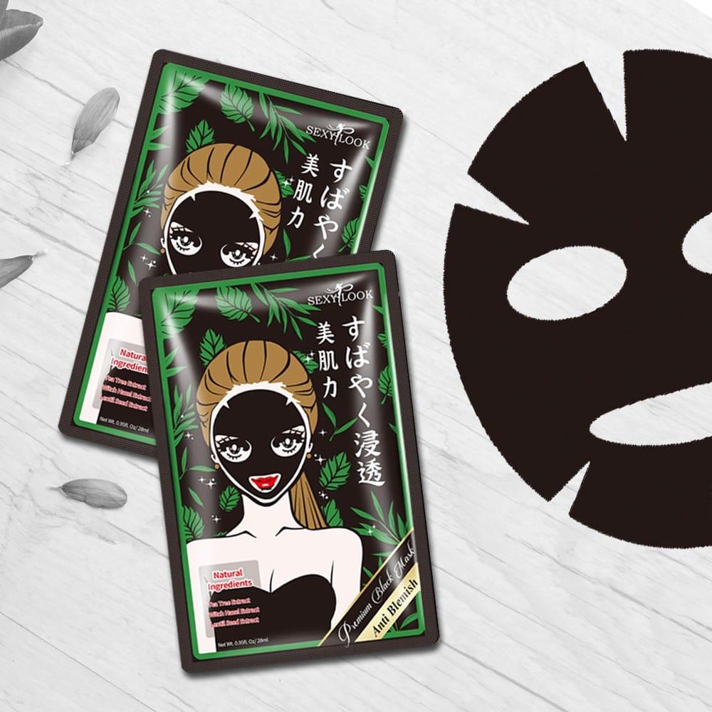 Mặt nạ tràm trà trị mụn, kháng viêm Sexylook Anti Blemish Black Facial Mask - Halo Cosmetics - Shop mỹ phẩm chính hãng tại Pleiku