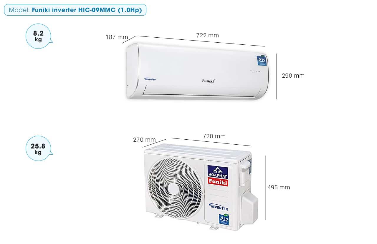 Máy lạnh treo tường Funiki inverter HIC-09MMC (1.0Hp)