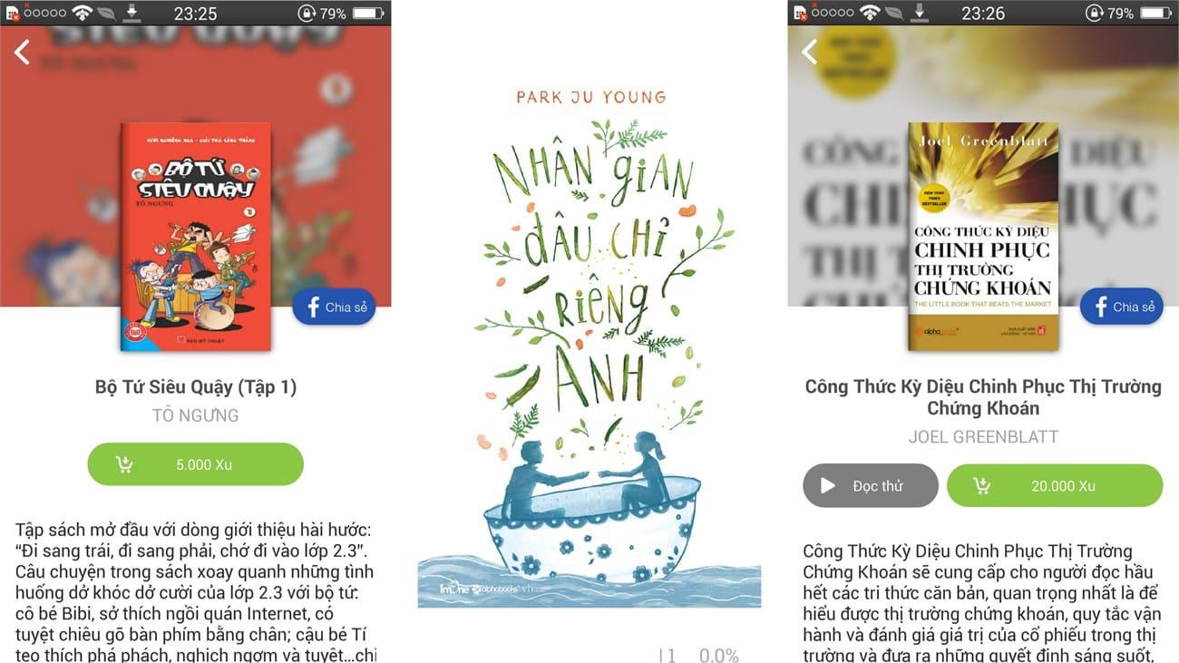 Đọc sách miễn phí trên Android