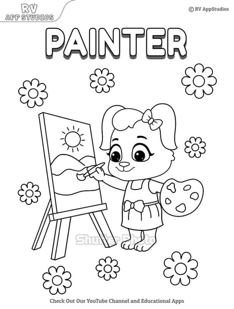 Những bức tranh tô màu bé làm họa sĩ dễ thương nhất Update 09/2021