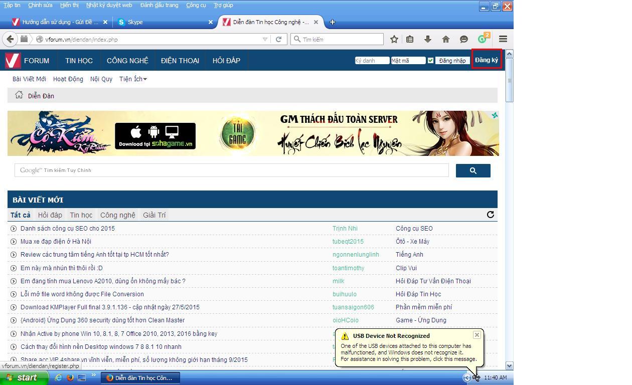 Website diễn đàn công nghệ (9)