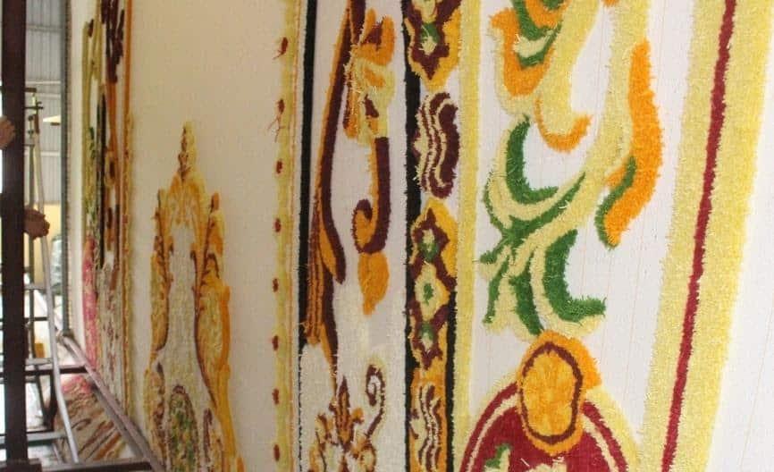 Ảnh xưởng dệt thảm theo thiết kế tại Thảm len Hàng Kênh Hải Phòng