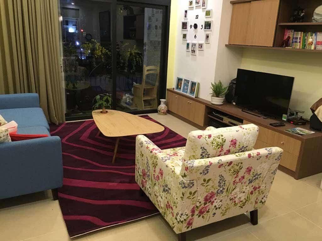 Kích thước thảm được điều chỉnh hợp lý hơn so với kích thước sofa