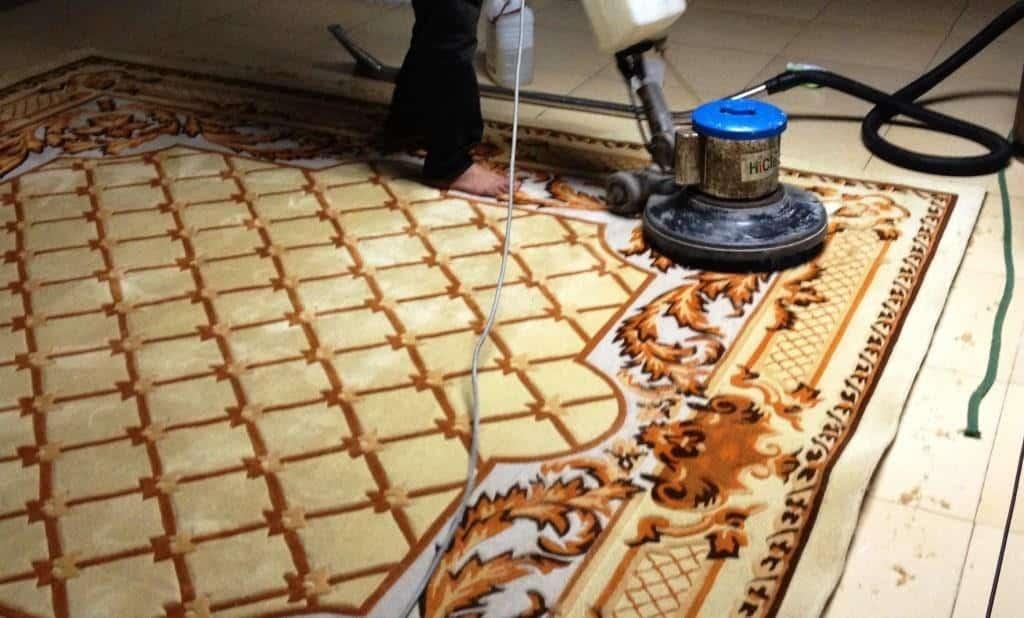 Quy trình giặt thảm và bảo dưỡng tại xưởng của